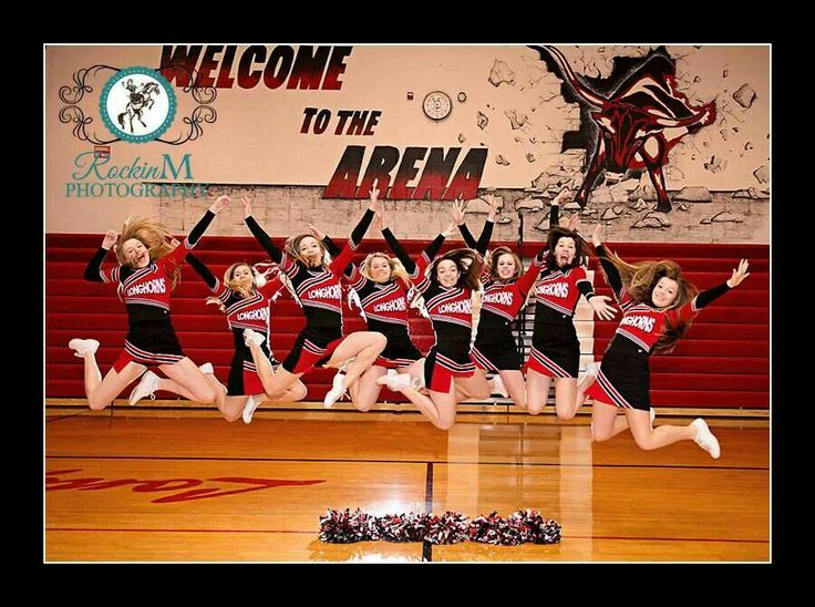 Our jumping cheer team picture. Turned out really cute!!