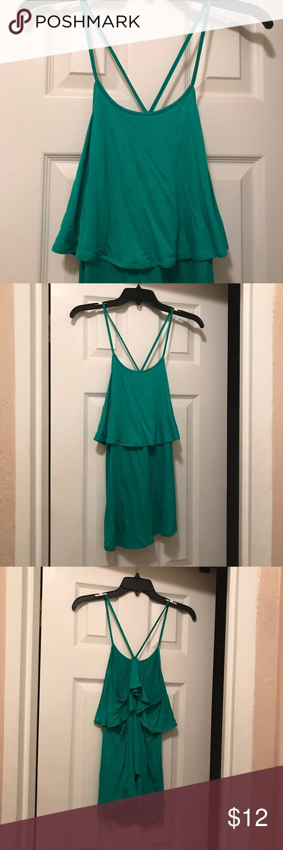 Old Navy Green Tank Green strappy tank from Old Navy. Longer fit. Only worn once. Old Navy Tops Tank Tops