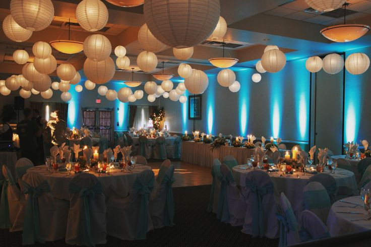 Beautiful paper lanterns, styling, wedding decoration ...
