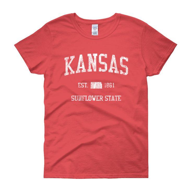 Vintage Kansas KS Womenu0027s T Shirt 228 best
