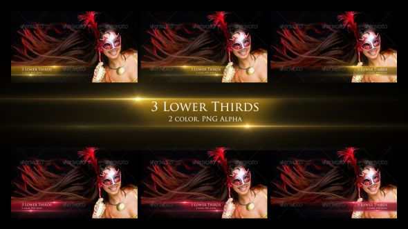 Elegant Lower Thirds | 3 Lower third pack(left+middle+right) | 2 Color version(gold & red)  | Each 0:10 seconds | FULL HD 1920×1080 25 fps | Quicktime PNG alpha codec | #animated lower third #caption #classy #elegant #enlightenment #flares #gold #lights #professional #red #simple #spiritual #title #translucent #yellow