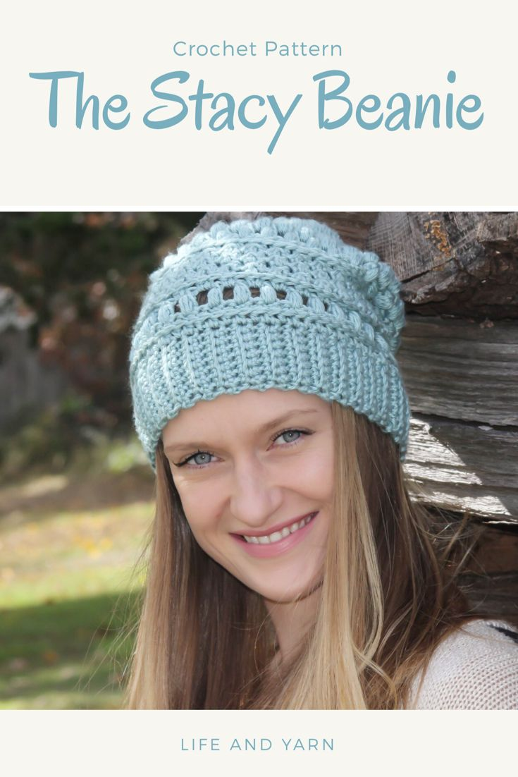 0307e40a0dd24 An easy crochet slouchy beanie pattern that is stylish and beginner  friendly! Perfect for gifts