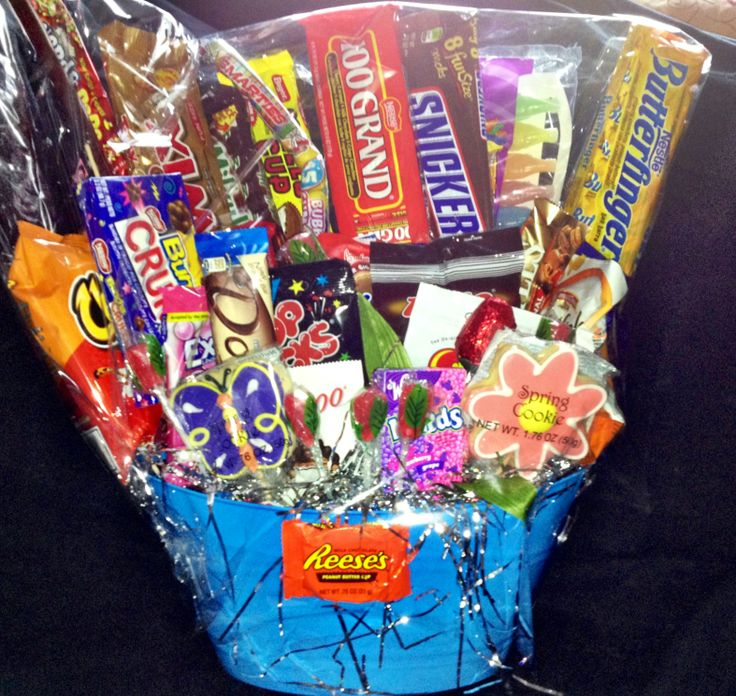 Bridal Shower Gift Basket Climbing On House Halloween: Candy Boquet Raffle Basket