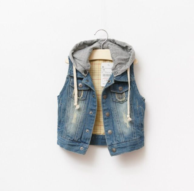 Hooded denim vest#denim#boysfashion#kidsfashion