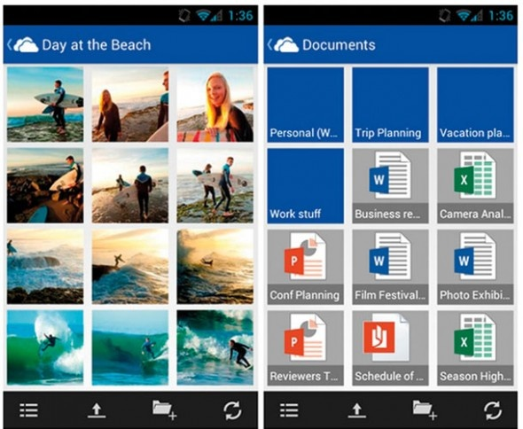 SkyDrive / Microsoft'un bulut depolama hizmeti SkyDrive, piyasadaki en iyi uygulamalardan biri. Dünyada neredeyse bütün internet kullanıcıları tarafından tercih edilen Office araçlarını kolayca senkronize etme avantajı nedeniyle tercih edilen SkyDrive, 7 GB ücretsiz depolama alanıyla dikkat çekiyor.  http://sosyalmedya.co/bulut-depolama-servisleri/4/