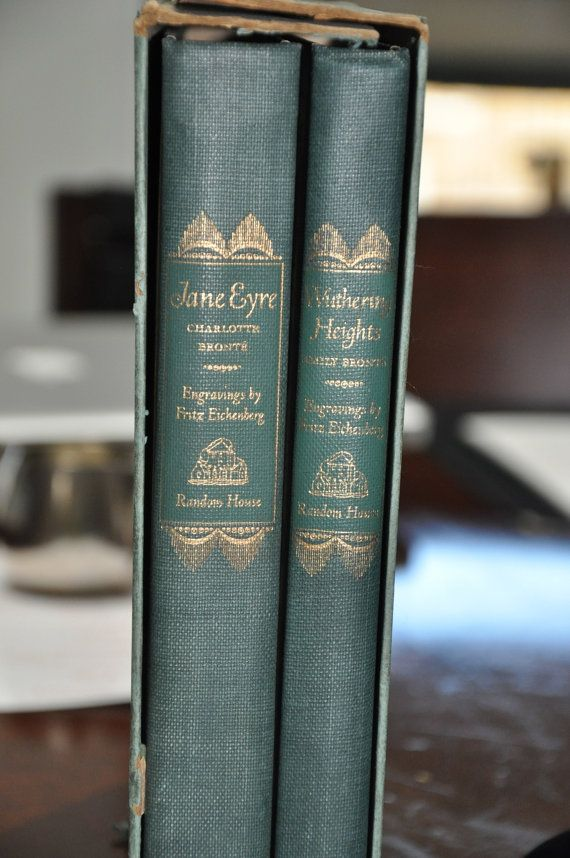 Vintage Book Set - Jane Eyre and Wuthering Heights (Charlotte Bronte and Emily Bronte - 1943)