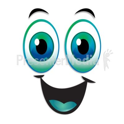 Happy Excited Expression Eyebrows Raised PowerPoint Clip Art