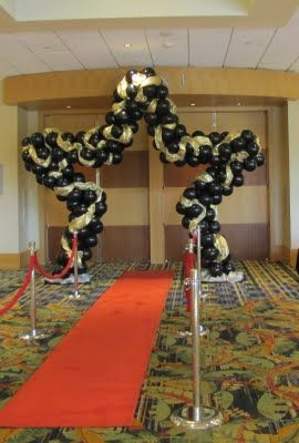 Party People Celebration Company - Special Event Decor Custom Balloon decor and Fabric Designs: Lake Gibson Old time Hollywood Prom 2011 Marriott World Resort Orlando