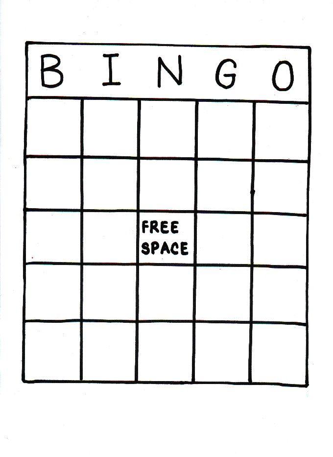 Blank Bingo Card Printable Bingo Card Template Bingo Cards Printable Blank Bingo Cards