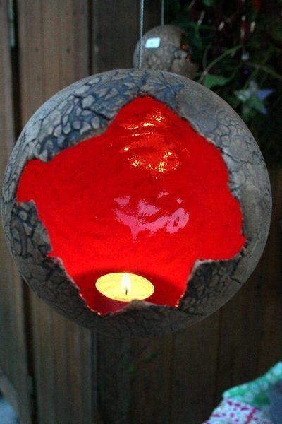 HängeWindlicht 16 cm von KeramikMaus - Kreatives aus Keramik für Haus & Garten auf DaWanda.com: