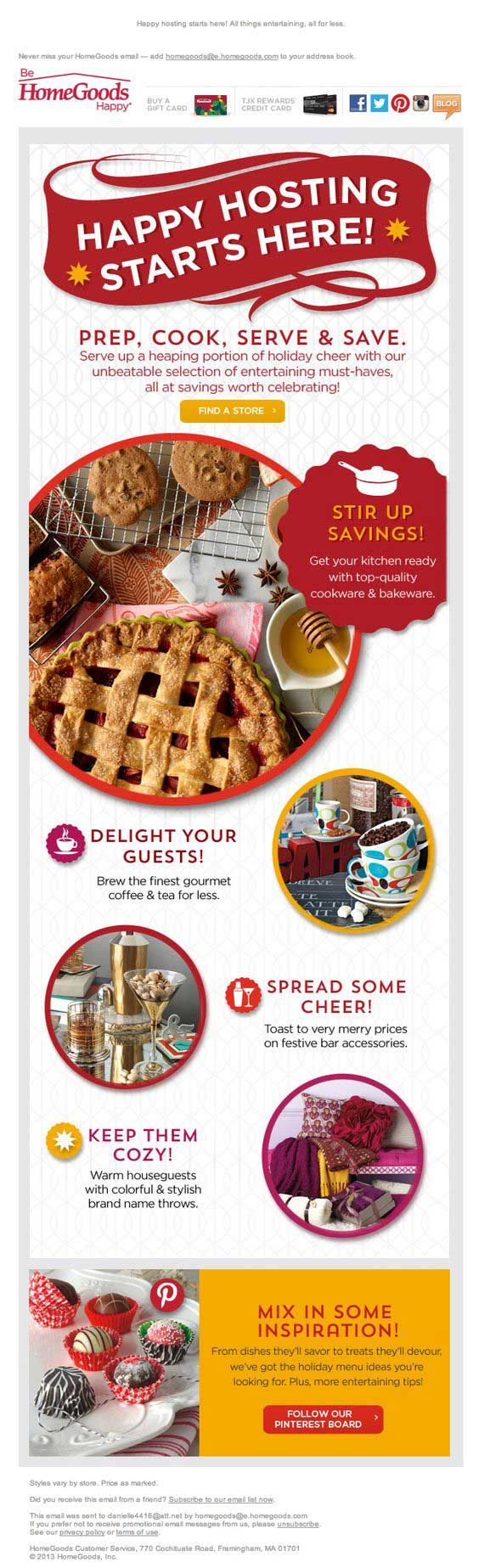 13 best Thanksgiving Emails images on Pinterest | Email marketing ...