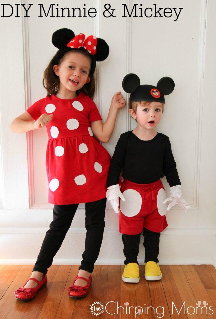 Niedliche DIY Mickey und Minnie Kostüme für alle Größen