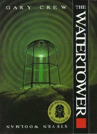 Picture Book: The Watertower by Gary Crew and illustrated by Steven Woolman.  Thoughts, wonderings and questions,  Evidence supported inferences,  Synthesising,  Visual literacy - semiotics. Shelf Location: PIC F CRE.   2 copies