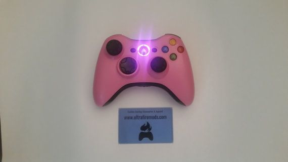 Microsoft Xbox 360 Pink wireless controller with by ultrafiremods