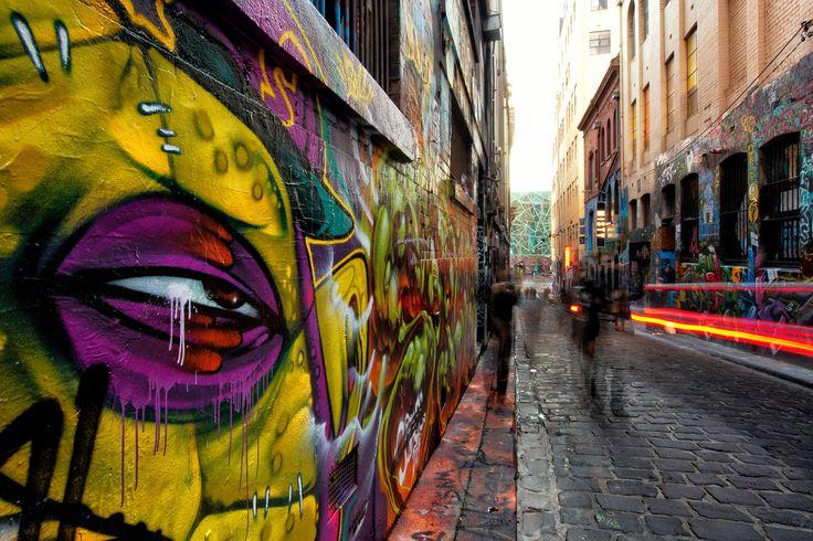 #Melbourne #laneway #streetart - Federation Square East - image by Peter Glenane