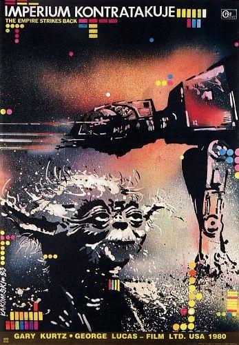 Polish movie poster: The Empire Strikes BackMovie Posters, Polish Film, Picture-Black Posters, Star Wars, Stars Wars, Film Posters, Polish Movie, Starwars, Empire Strike