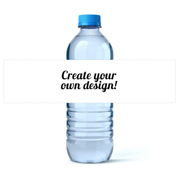 bottled water label template - custom water bottle labels icustomlabel charlie bdays