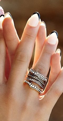 Beautiful stackable rings http://rstyle.me/n/uqrjvnyg6