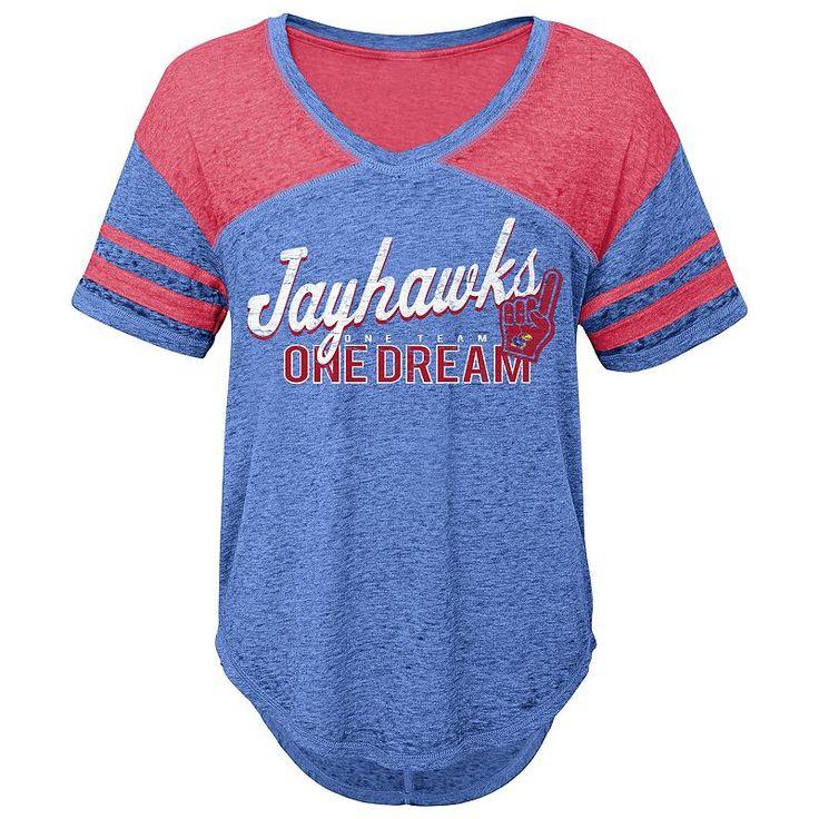 Juniors' Kansas Jayhawks Football Tee, Women's, Size: Medium, Blue Other