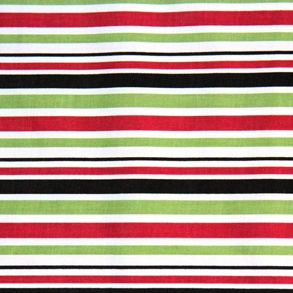 Bavlněná látka Pruhy červenozelené