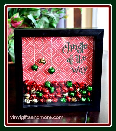 Shadow Box - Jingle All The Way -This is so cute!  It can be personalized for each person making it.