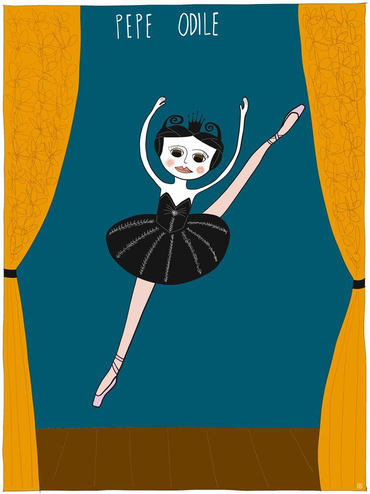 Illustration of Pepe #Odile #dancevariation from #swanlake by Monica Brini