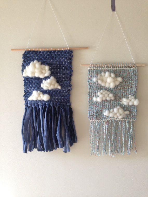 Cloud woven wall hanging by TheUnusualPear on Etsy
