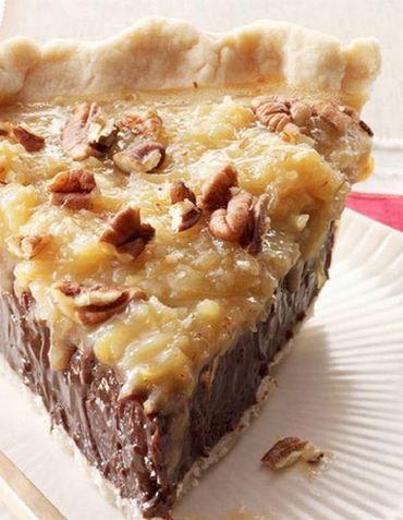 Coconut-Pecan German Chocolate Pie   Gurman chef