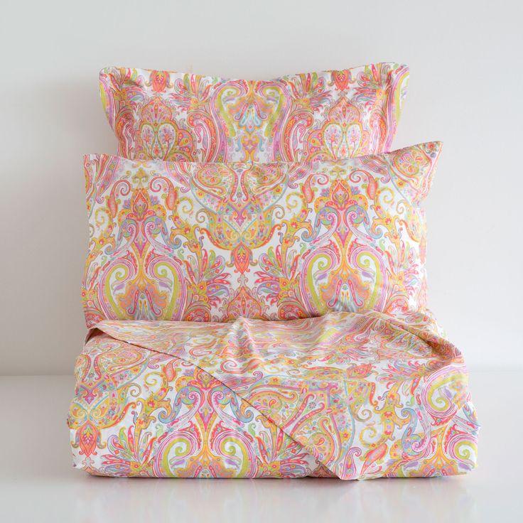 linge de lit imprim paisley multicolore bedding linge. Black Bedroom Furniture Sets. Home Design Ideas