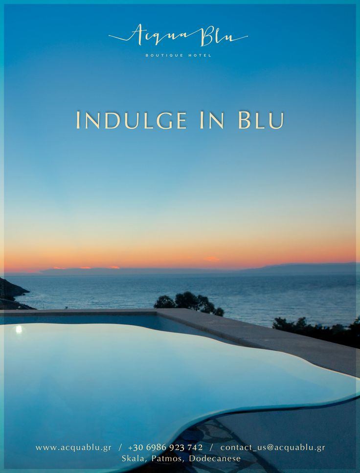 An exquisite example of traditional architecture of Patmos with strong elements of Cycladic simplicity, this quaint hotel is built in an amphitheater style with mastery, thus creating an intimate boutique character.  #AcquaBlu #BoutiqueHotel
