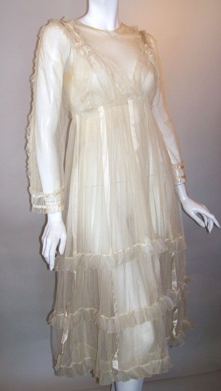 Ethereal and romantic sheer netting early 20s wedding for Romantic ethereal wedding dresses