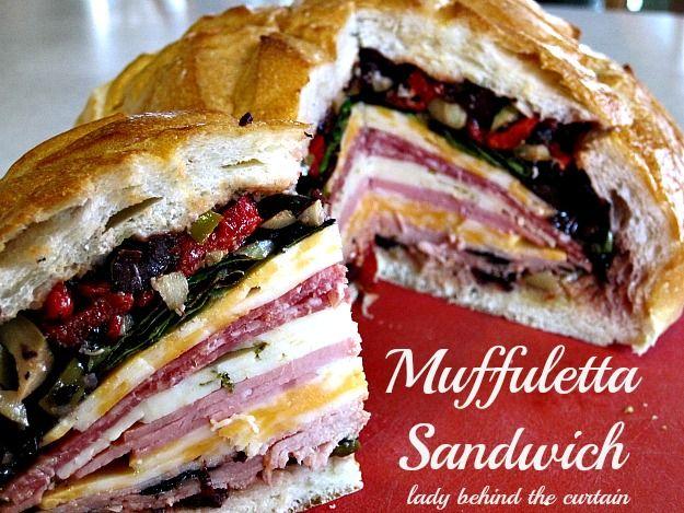 Muffuletta Sandwich _ Have you ever had a Muffuletta Sandwich? It's ...