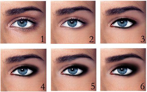 smokey eye tutorial: Make Up, Eye Makeup, Smokey Eyes, Smoky Eye, Blue Eye, Smokeyeye, Beauty, Step By Step, Hair