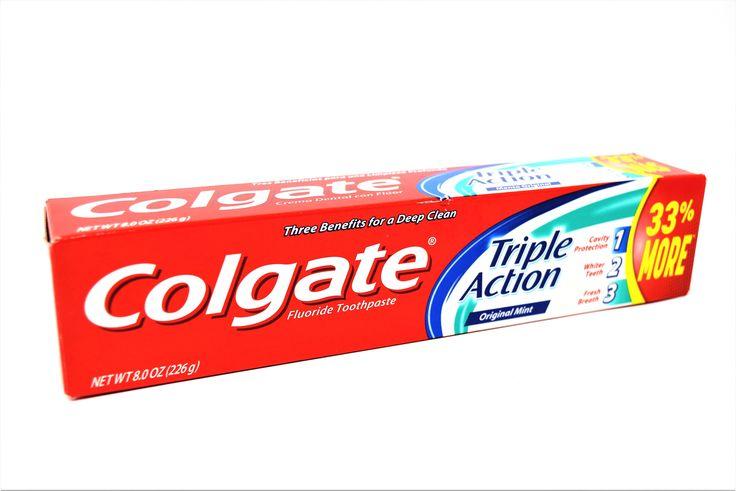 Colgate Triple Action Original Mint Fluoride Toothpaste, 8 oz.