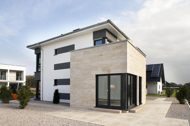 stadtvilla mit holzfassade am anbau architektur momentaufnahmen pinterest holzfassade. Black Bedroom Furniture Sets. Home Design Ideas