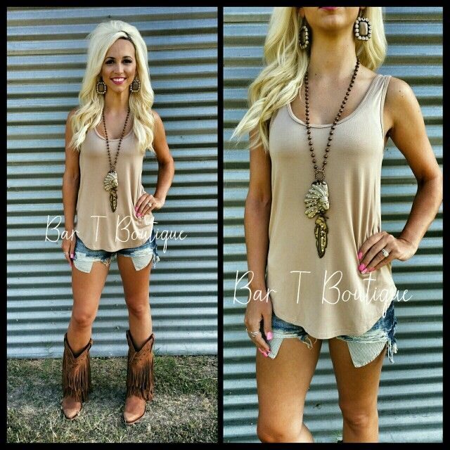 Taupe Tank ~ Follow @bar_t_boutique on Instagram  to Shop weekly New Arrivals