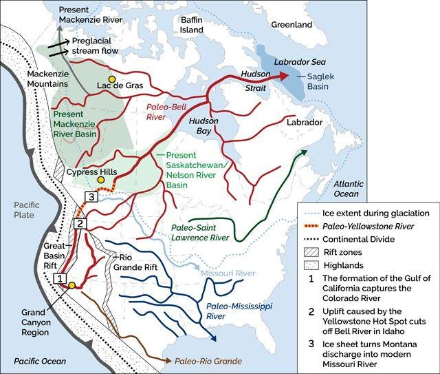 Paleo Bell River Basin River Basin Mackenzie River