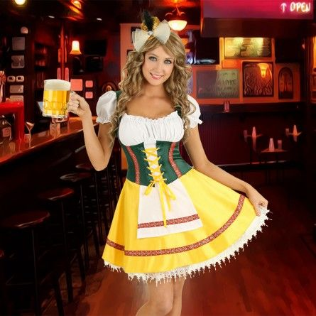 Womens Oktoberfest Costume German Dress http://www.oktoberfesthaus.com