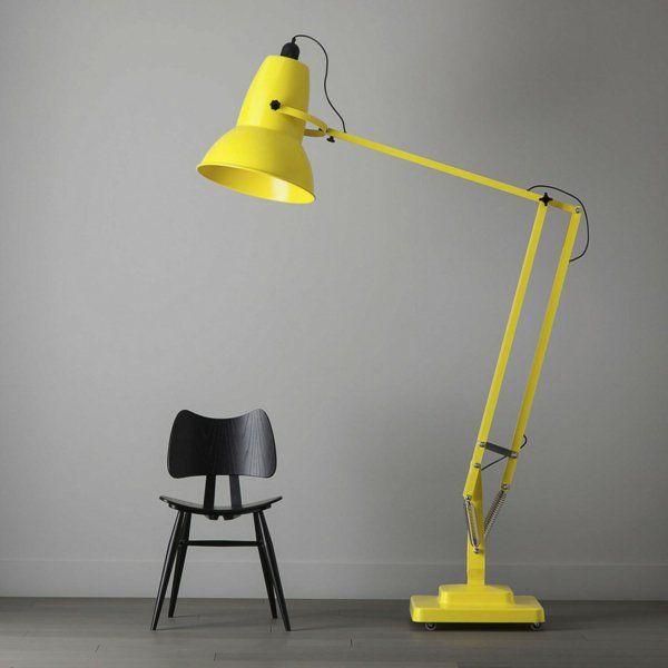 Die besten 25+ gelbe Stehlampen Ideen auf Pinterest gelbe Lampen - moderne wohnzimmer stehlampe