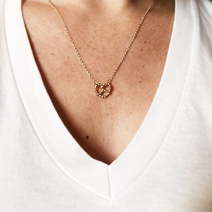I want a NYC pretzel! #chomp   Shop pretzel necklace at myshiningarmour.com/necklace/pretzel-necklace