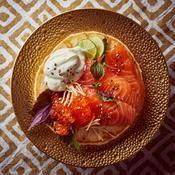 Gravlax et chantilly au wasabi - une recette Nordique - Cuisine