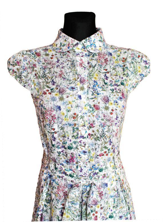 62fc3cffe4a Dress in Liberty of London Wild Flowers  Tana Lawn by DressbyGS ...