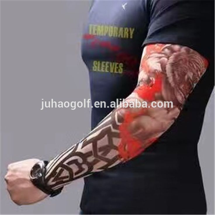 Custom golf Tattoo Sleeves with high quality UV protection