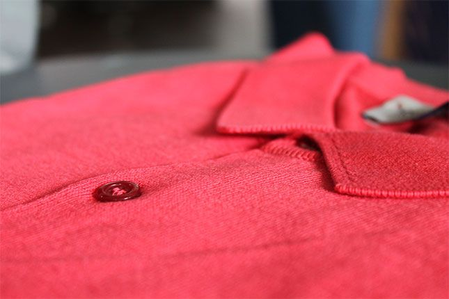 Our iconic Adrian short sleeved polo shirt in #SS18 seasonal shade Ruche Red #PrecisionFluidity