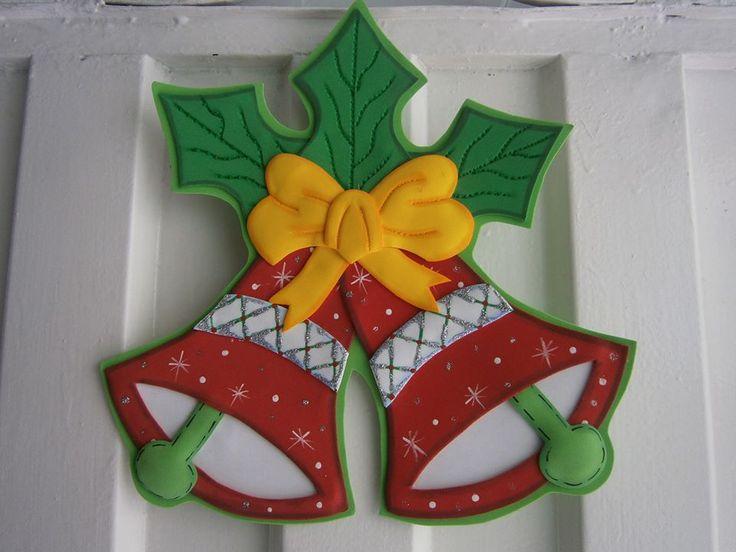 Campanas de navidad trabajos en fomy pinterest - Campanas de navidad ...