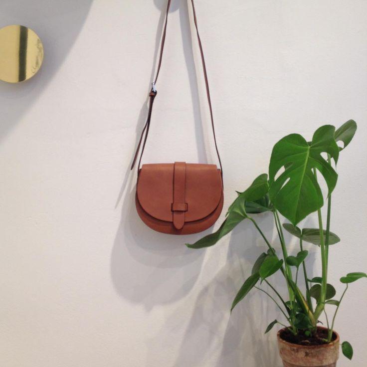 DECADENT Kaya satchel bag, cognac