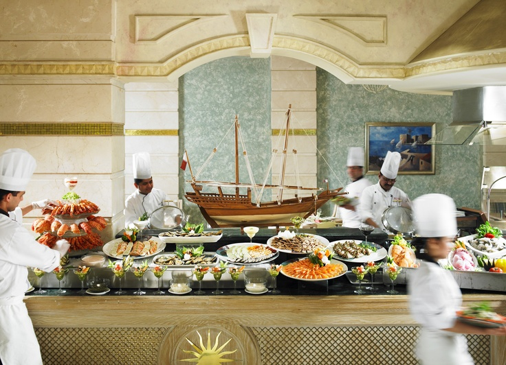 Corniche Mediterranean Restaurant at the Doha Marriott Hotel