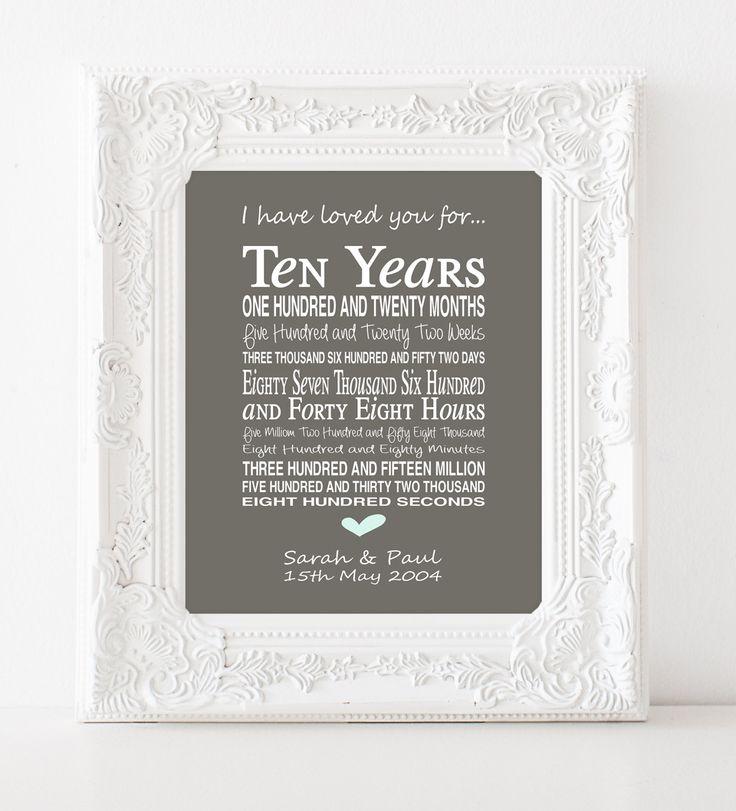 10th anniversary gift personalised by PinkMilkshakeDesigns