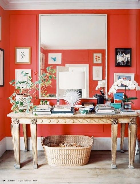 C.B.I.D. HOME DECOR and DESIGN: EXPLORING WALL COLOR: WARM TONES Orange, Red, Pink Bulls Eye Red