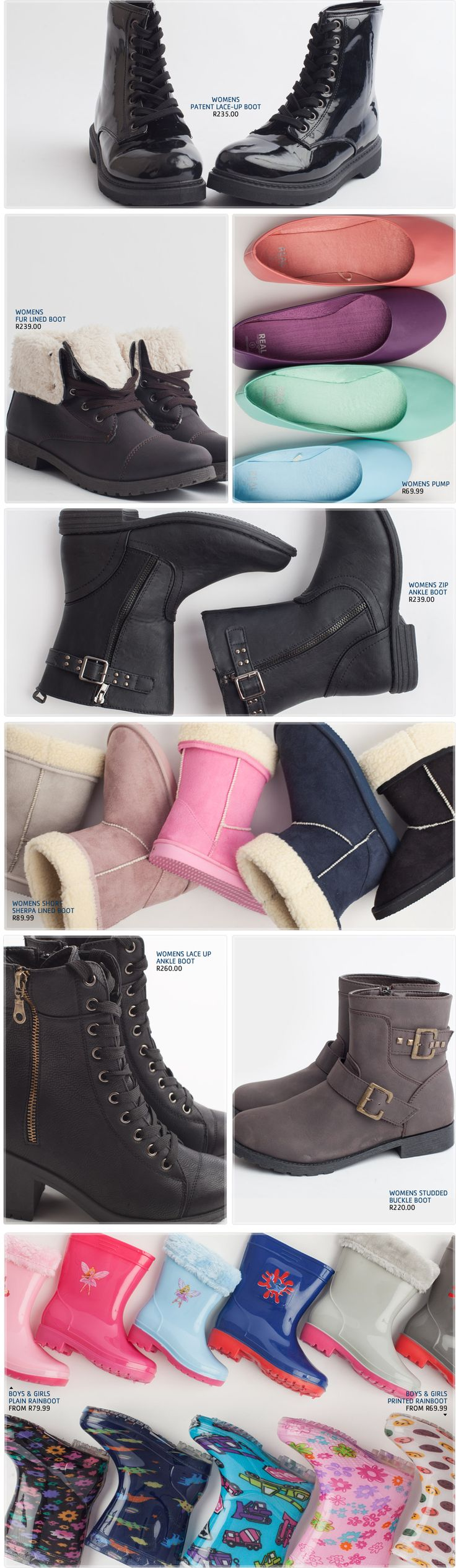 Pick n Pay Clothing Style File | Knitwear - Pick n Pay Warm Footwear for winter and PnP made your life easier by putting the newest and most popular trendy winter styles in this category. From faux fur favorites to leather lace ups, to keep your toes nice and warm.